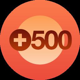500 seguidores